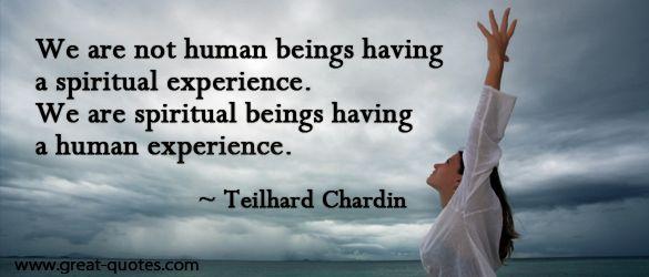 spiritual having a human