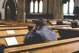 praying in a church