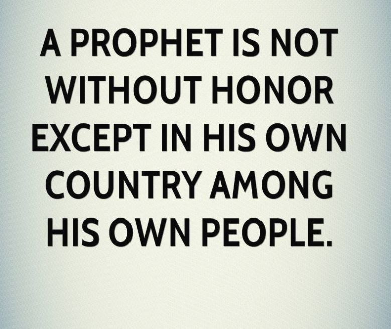 prophet without honor